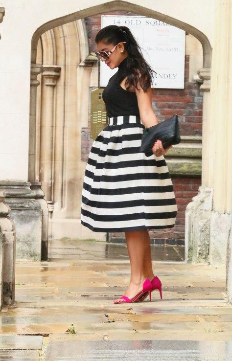 Stripes + A Kiss of Magenta