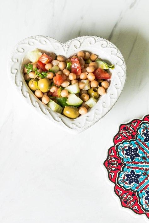 No Tricks Chick Peas Salad