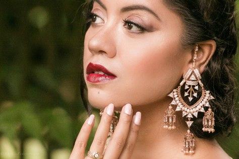 SareeSutra: Durga Puja Look: Malasa Embellished Georgette Saree
