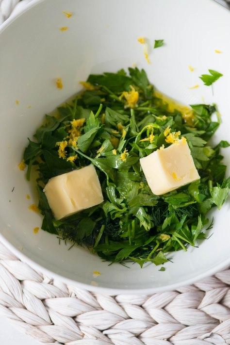 Lemon Garlic Herb Crusted Salmon