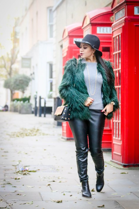 The Cosy Formula: Faux-Fur Jacket & Brimmed Hat