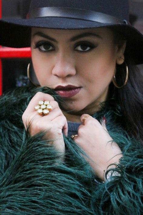 The Cosy Formula: Faux-Fur Jacket & Brimmed Hat
