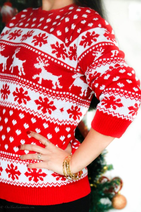 Christmas Jumper Day: Reigning In The Reindeer & Snow Flake Knits