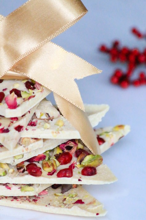 An Edible Christmas Present: White Chocolate Bark