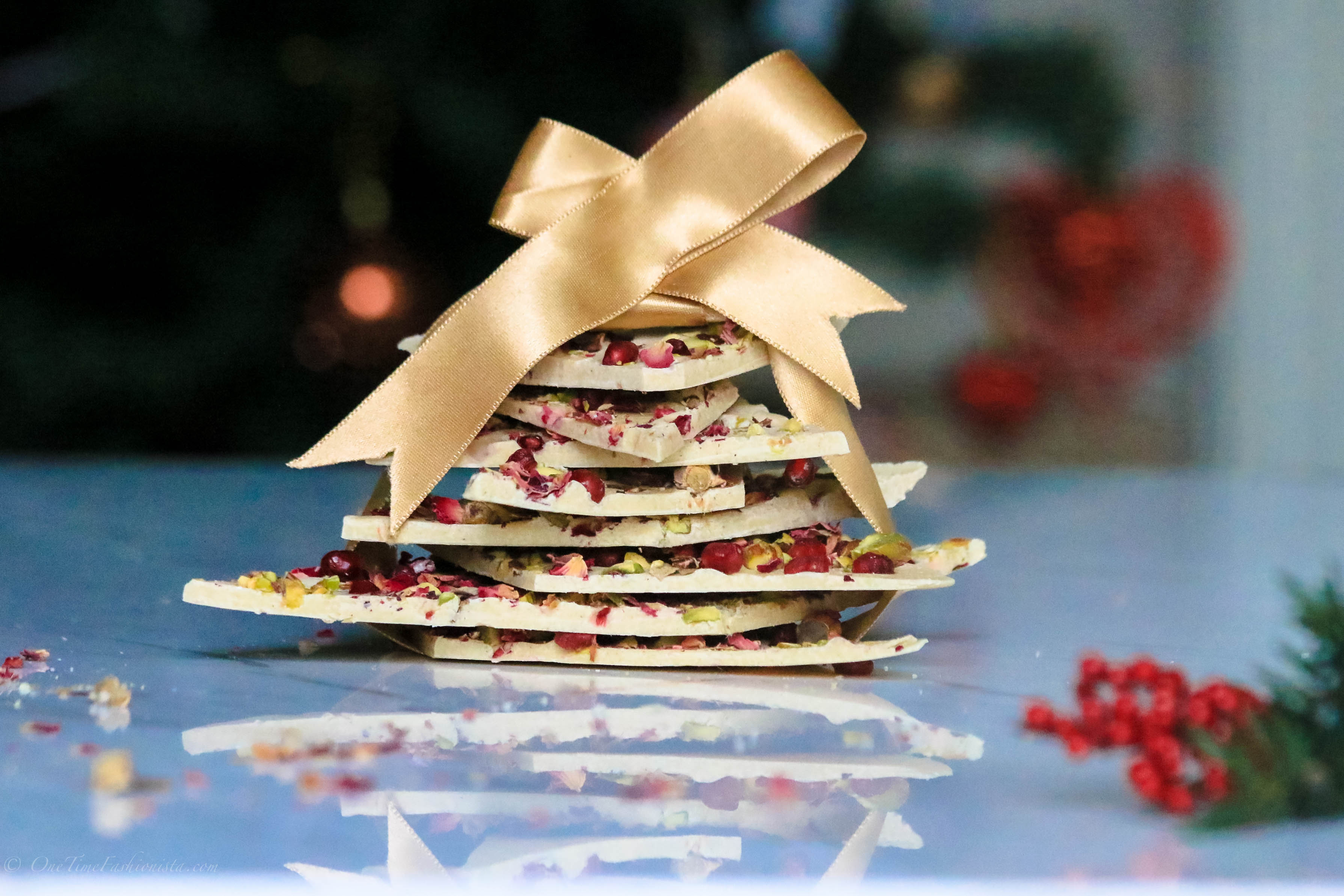 An Edible Christmas Present: White Chocolate Bark