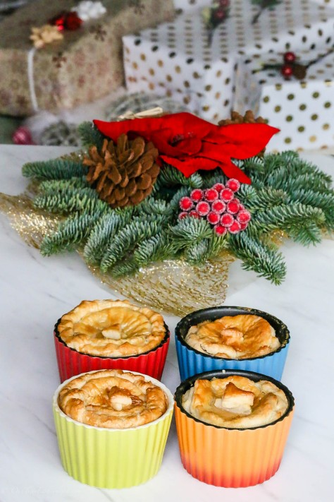 Leftover Turkey & Cranberry Pot Pies