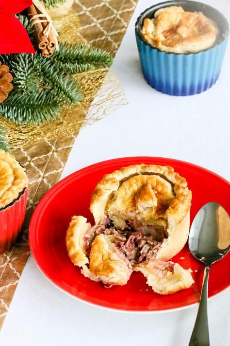 Leftover Turkey & Cranberry Pot Pies