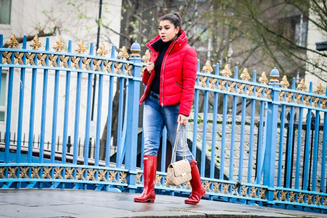 Rainy Winter Day Look: Red Riding Hood