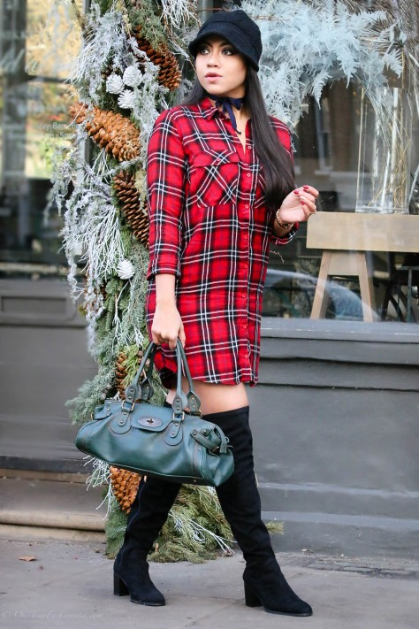 Wild At Heart: Check The Wildness Of This Shirt Dress