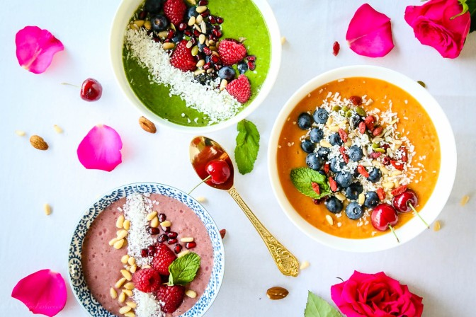 Breakfast Smoothie Bowls Three Ways