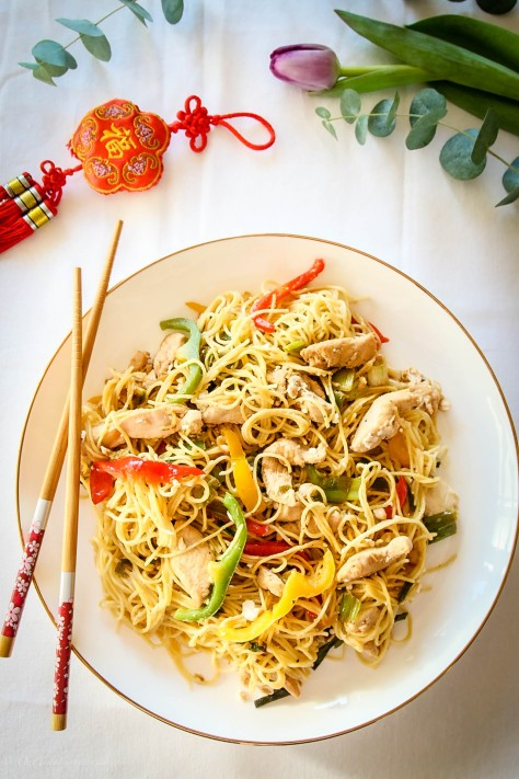 Chinese New Year: Spicy Sichuan-style prawns & Chow Mein