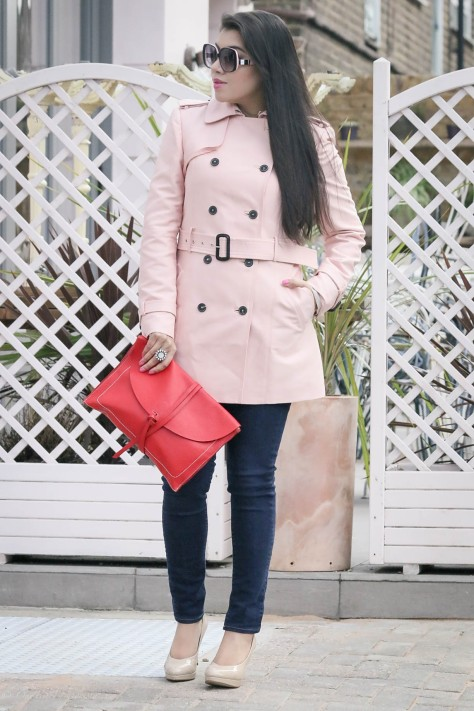 First Sign Of Spring: Pink Trench Coat