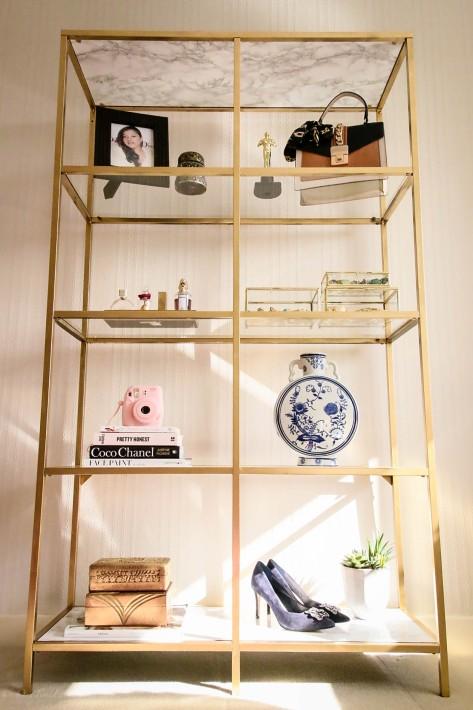 diy ikea vittsjo shelf for my small office home office. Black Bedroom Furniture Sets. Home Design Ideas