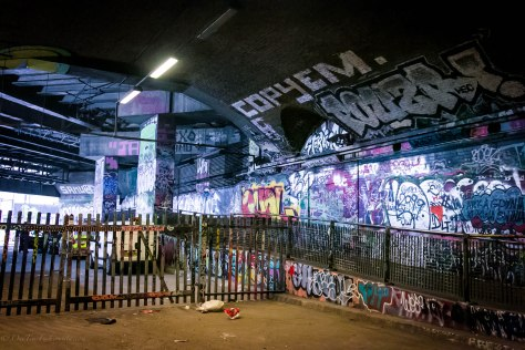 Spraying Fashion Graffiti in Leake Street Tunnel Waterloo London